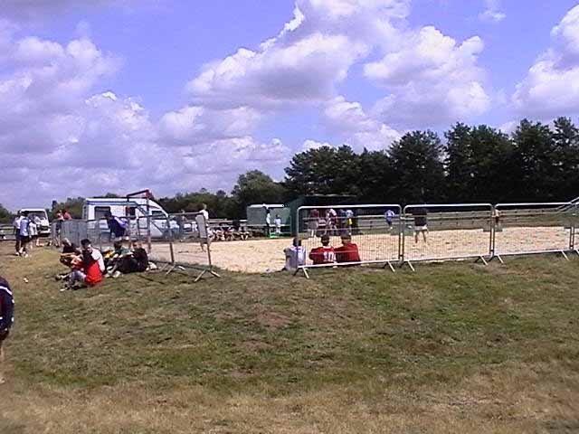 Aire de sable pour sports collectifs